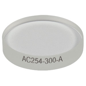AC254-300-A - f = 300.0 mm, Ø1in Achromatic Doublet, ARC: 400 - 700 nm
