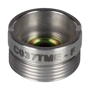 C037TME-F - f = 1.873 mm, NA = 0.85, Mounted Geltech Aspheric Lens, ARC: 8 - 12 µm