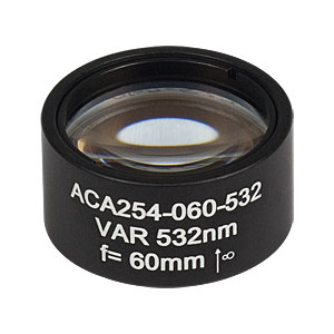 ACA254-060-532 - High-Power Air-Spaced Doublet, 532 nm, f = 60 mm