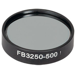 FB3250-500 - Ø1in IR Bandpass Filter, CWL = 3.25 µm, FWHM = 500 nm