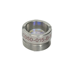 AC050-015-B-ML - f=15 mm, Ø5 mm Achromatic Doublet, M9x0.5 Threaded Mount, ARC: 650-1050