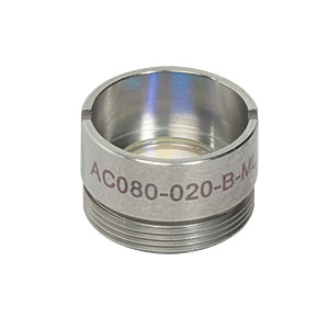 AC080-020-B-ML - f=20 mm, Ø8 mm Achromatic Doublet, M12x0.5 Threaded Mount, ARC: 650-1050