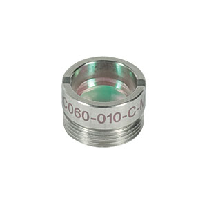 AC060-010-C-ML - f=10 mm, Ø6 mm Achromatic Doublet, M9x0.5 Threaded Mount, ARC: 1050-1620 nm