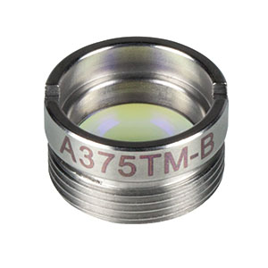 A375TM-B - f = 7.5 mm, NA = 0.3, Mounted Rochester Aspheric Lens, AR: 650 - 1050 nm