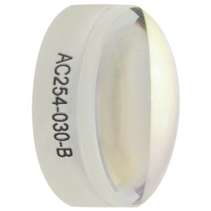 AC254-030-B - f = 30.0 mm, Ø1in Achromatic Doublet, ARC: 650 - 1050 nm