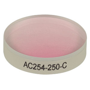 AC254-250-C - f = 250.0 mm, Ø1in Achromatic Doublet, ARC: 1050 - 1700 nm