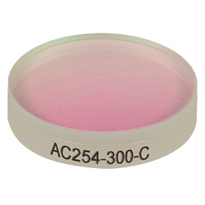 AC254-300-C - f = 300.0 mm, Ø1in Achromatic Doublet, ARC: 1050 - 1700 nm