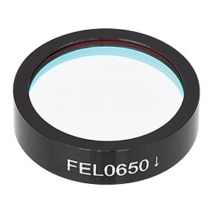 FEL0650 - Ø1in Longpass Filter, Cut-On Wavelength: 650 nm