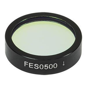 FES0500 - Ø1in Shortpass Filter, Cut-Off Wavelength: 500 nm