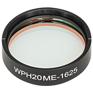 WPH20ME-1625 - Ø2in Mounted Polymer Zero-Order Half-Wave Plate, SM2-Threaded Mount, 1625 nm