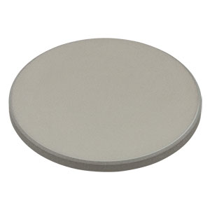 DG10-600-P01 - Ø1in Prot. Silver Reflective Ground Glass Diffuser, 600 Grit