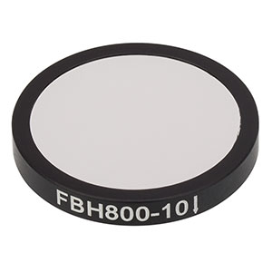 FBH800-10 - Premium Bandpass Filter, Ø25 mm, CWL = 800 nm, FWHM = 10 nm