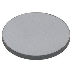 DG10-600-F01 - Ø1in UV-Enhanced Al Reflective Ground Glass Diffuser, 600 Grit