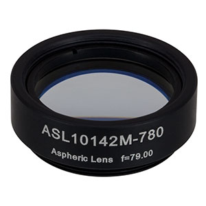 ASL10142M-780 - Ø1in Aspheric Lens, SM1 Mounted, f = 79.0 mm, NA = 0.143, 780 nm V Coating