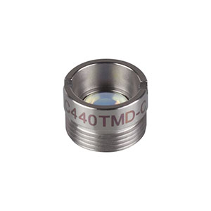 C440TMD-C - f = 2.76 mm, NA = 0.26/0.52, Mounted Geltech Aspheric Lens, AR: 1050-1700nm