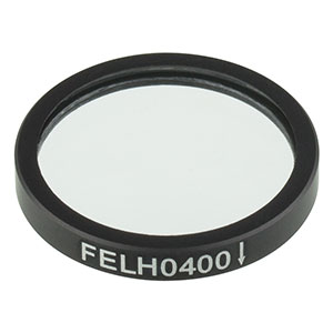 FELH0400 - Ø25.0 mm Premium Longpass Filter, Cut-On Wavelength: 400 nm