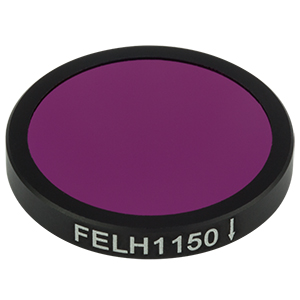 FELH1150 - Ø25.0 mm Premium Longpass Filter, Cut-On Wavelength: 1150 nm