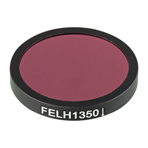 FELH1350 - Ø25.0 mm Premium Longpass Filter, Cut-On Wavelength: 1350 nm