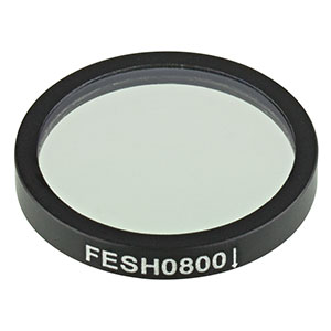 FESH0800 - Ø25.0 mm Premium Shortpass Filter, Cut-Off Wavelength: 800 nm