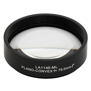 LA1145-ML - Ø2in N-BK7 Plano-Convex Lens, SM2-Threaded Mount, f = 75.0 mm, Uncoated