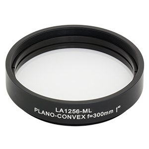 LA1256-ML - Ø2in N-BK7 Plano-Convex Lens, SM2-Threaded Mount, f = 300.0 mm, Uncoated