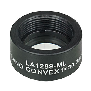 LA1289-ML - Ø1/2in N-BK7 Plano-Convex Lens, SM05-Threaded Mount, f = 30.0 mm, Uncoated