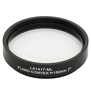 LA1417-ML - Ø2in N-BK7 Plano-Convex Lens, SM2-Threaded Mount, f = 150 mm, Uncoated