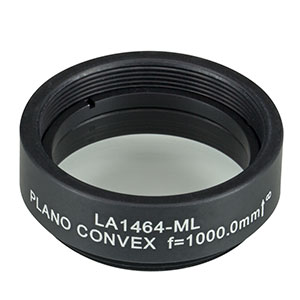LA1464-ML - Ø1in N-BK7 Plano-Convex Lens, SM1-Threaded Mount, f = 1000 mm, Uncoated