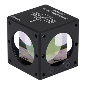 CCM1-PBS25-1064/M - 30 mm Cage-Cube-Mounted Polarizing Beamsplitter Cube, 1064 nm, M4 Tap