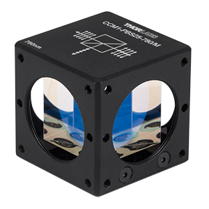 CCM1-PBS25-780/M - 30 mm Cage-Cube-Mounted Polarizing Beamsplitter Cube, 780 nm, M4 Tap