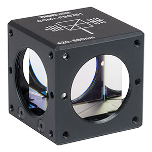 CCM1-PBS251 - 30 mm Cage Cube-Mounted Polarizing Beamsplitter Cube, 420-680 nm, 8-32 Tap