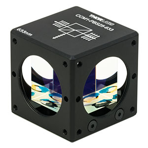CCM1-PBS25-633 - 30 mm Cage-Cube-Mounted Polarizing Beamsplitter Cube, 633 nm, 8-32 Tap