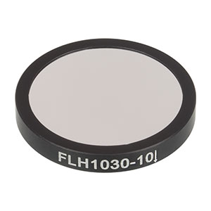 FLH1030-10 - Premium Bandpass Filter, Ø25 mm, CWL = 1030 nm, FWHM = 10 nm