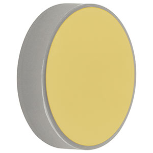 CM254-1000-M01 - Ø1in Gold-Coated Concave Mirror, f = 1000.0 mm