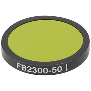 FB2300-50 - Ø25 mm IR Bandpass Filter, CWL = 2.30 µm, FWHM = 50 nm