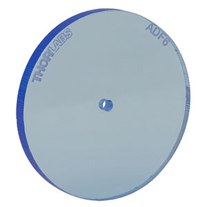 ADF6 - Fluorescent Alignment Disk, Ø1.5 mm Hole, Blue