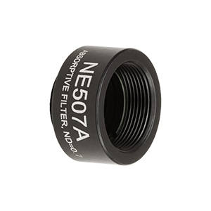 NE507A - Ø1/2in Absorptive ND Filter, SM05-Threaded Mount, Optical Density: 0.7