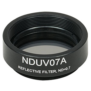 NDUV07A - SM1-Threaded Mount, Ø25 mm UVFS Reflective ND Filter, OD: 0.7