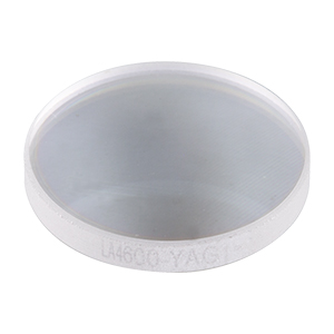 LA4600-YAG - f = 100 mm, Ø1/2in UVFS Plano-Convex Lens, 532/1064 nm V-Coat