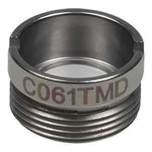 C061TMD - f= 11.0 mm, NA = 0.2, WD = 8.5 mm, Mounted Aspheric Lens, Uncoated