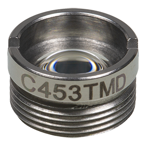C453TMD - f = 4.6 mm, NA = 0.5, WD = 0.9 mm, Mounted Aspheric Lens, Uncoated