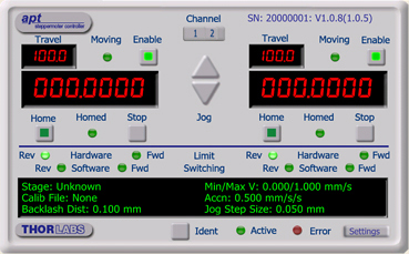 ActiveX Control for APT Stepper Controller