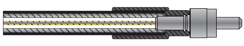 Armored Fiber Optic Patch Cable Cross Section Diagram