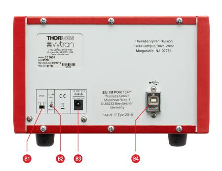CC6000 Interferometer Back Panel