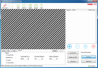 Exulus Software Pattern Tab for Diffraction Grating Generation