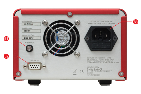 LLD1530 Reference Laser Back Panel