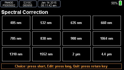 Spectral Correction