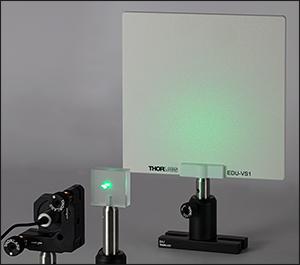 Broadband Spectrum on Viewing Screen